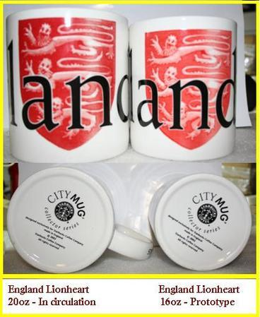 Starbucks City Mug England 16oz