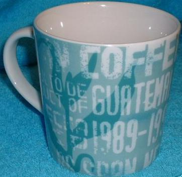 Starbucks City Mug Guatemala teal and white