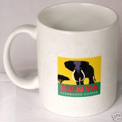 Starbucks City Mug Kenya w/ Steam Swirls