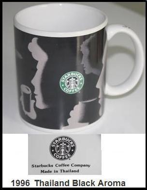 Starbucks City Mug 1996 Black Aroma