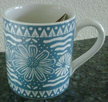 Starbucks City Mug Blue White Batik