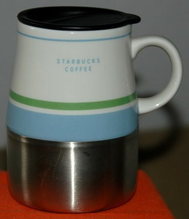 Starbucks City Mug Desk Top Style Mug - Light green and Light blue