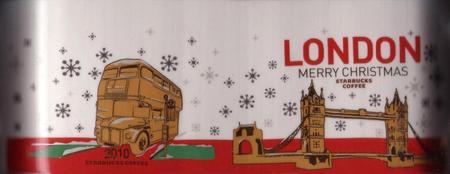 Starbucks City Mug London - Happy Holidays 2010