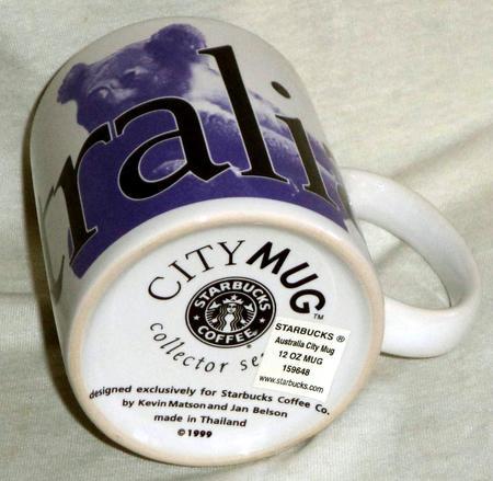 Starbucks City Mug Australia-Made in Thailand 12 Oz