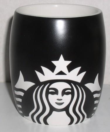 Starbucks City Mug 2011 White on Black Siren Logo - Version #1