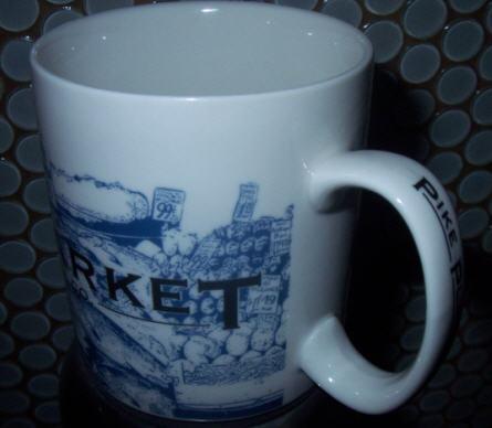 Starbucks City Mug Pike Place Market - No Slogan 18 oz Mug