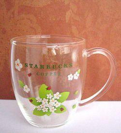 Starbucks City Mug Starbucks - glass mug - Flower