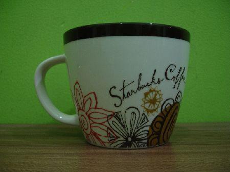 Starbucks City Mug Brown floral
