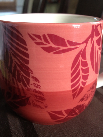 Starbucks City Mug Pink Leaves
