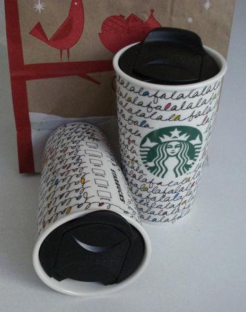 Starbucks City Mug Christmas 2011 Falalalala Tumbler