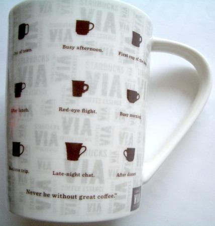 Starbucks City Mug Japan VIA Series - White
