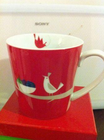 Starbucks City Mug Christmas 2011 Red Partridge Quail