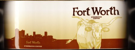 Starbucks City Mug Fort Worth - Texas Longhorn Cow