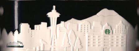 Starbucks City Mug Seattle Relief Mug, 2012