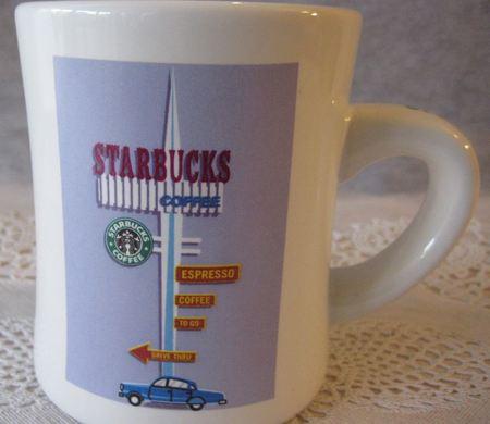Starbucks City Mug Diner Mug Vintage Starbucks Drive Thru 2001