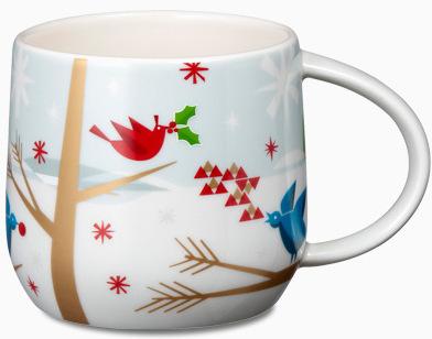 Starbucks City Mug 2012 Christmas Mug # 15 - Birds