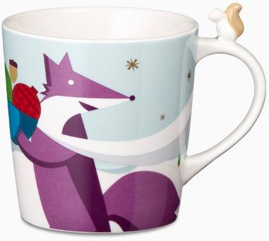 Starbucks City Mug 2012 Christmas Mug # 17 - Fox