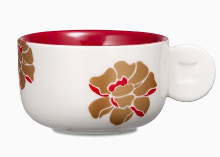 Starbucks City Mug 2013 Peony Flower Demi 3oz