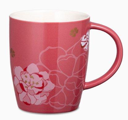 Starbucks City Mug 2013 Pink peach blossoms mug