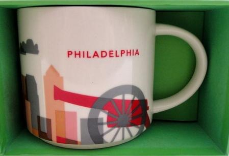 Starbucks City Mug You Are Here in Philadelphia