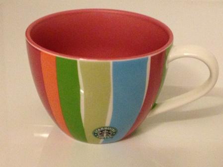 Starbucks City Mug 2007 Multicolor striped Mug 12oz