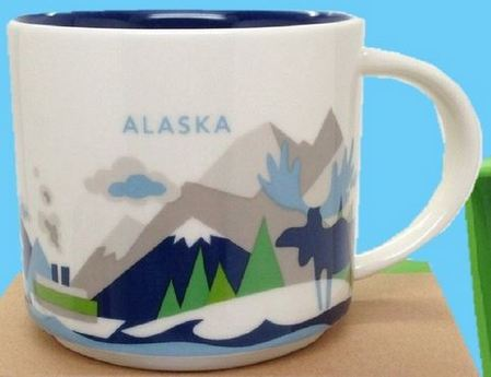 Starbucks City Mug You Are Here In Alaska