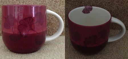 Starbucks City Mug Purple Ginkgo Leaf Mug