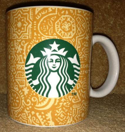 Starbucks City Mug Orange Ramadan Batik