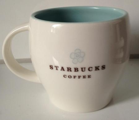 Starbucks City Mug 2010 Light blue Flower 8oz Abbey mug