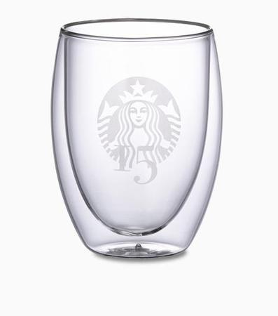 Starbucks City Mug 2013 15th Anniversary SB in Taiwan Double Coated Glass