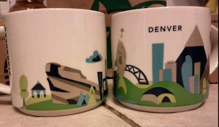 Starbucks City Mug You Are Here In Denver