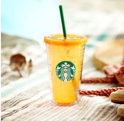 Starbucks City Mug Siren Orange Cold Cup 16oz