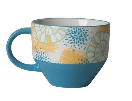 Starbucks City Mug 2013 Blue Flower Mug 14oz