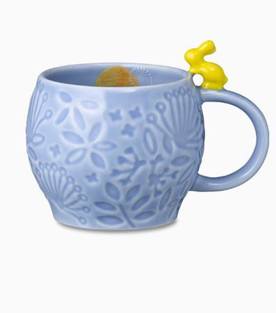 Starbucks City Mug 2013 Mid Autumn Festival Blue Mug 12oz with yellow rabbit