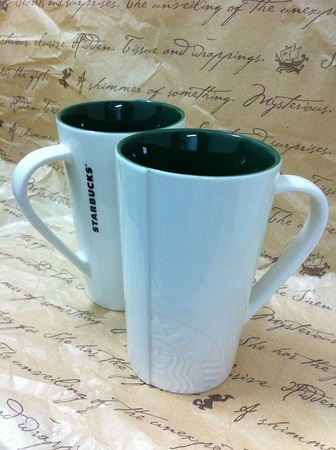 Starbucks City Mug Tall Lady Green