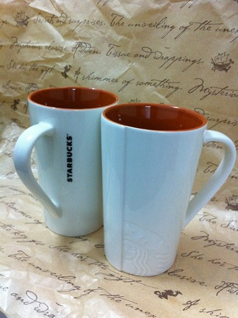 Starbucks City Mug Tall Lady Orange