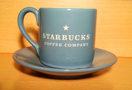 Starbucks City Mug Blue Stackable Cup and Saucer