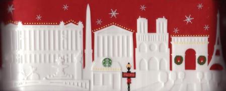 Starbucks City Mug 2013 Paris Red Relief