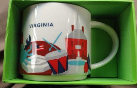 Starbucks City Mug Virginia YAH