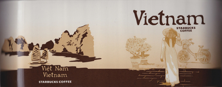 Starbucks City Mug Vietnam II - Ao Dai  (Viet Nam and Vietnam on back)