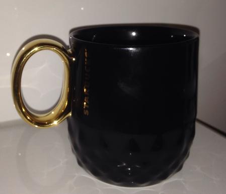 Starbucks City Mug 2013 Golden Handle Black mug 12oz