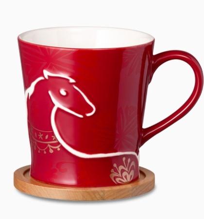 Starbucks City Mug 2014 CNY Year of the Horse Red Horse Mug 12oz (Taiwan)