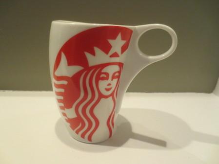 Starbucks City Mug Leaning Logo--Red