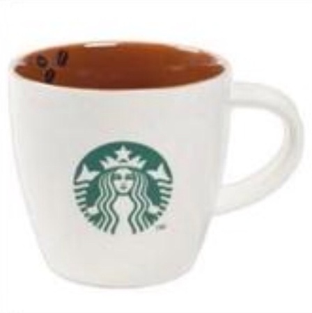 Starbucks City Mug 2013 Brown Interior Coffee Bean Mug 14oz