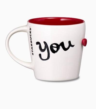 Starbucks City Mug 2014 Valentines Day YOU Mug 12oz From Various