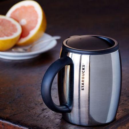 Starbucks City Mug 2014 Desktop Barrel Mug With Lid 14 Fl
