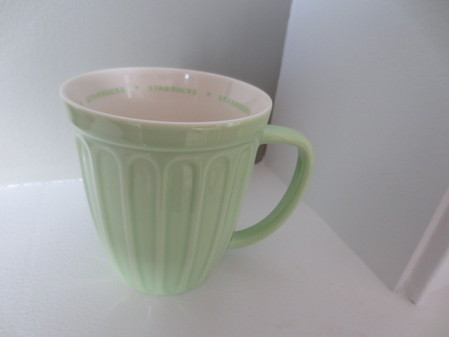 Starbucks City Mug 2006 Spring Pastel Ribbed Mug--Mint Green