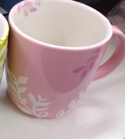 Starbucks City Mug 2014 Pink Spring Relief mug 12 oz