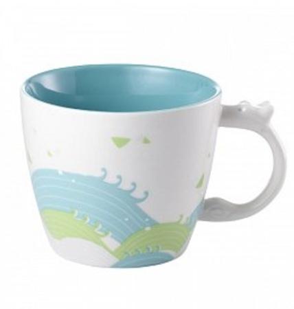 Starbucks City Mug 2014 Dragonboat Festival Light Blue Mug