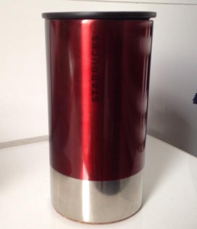 Starbucks City Mug Stainless Steel Red Silver Tumbler 8oz